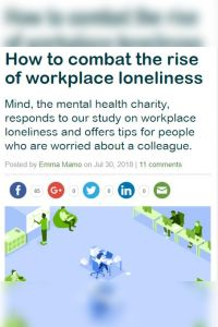 How to Combat the Rise of Workplace Loneliness summary