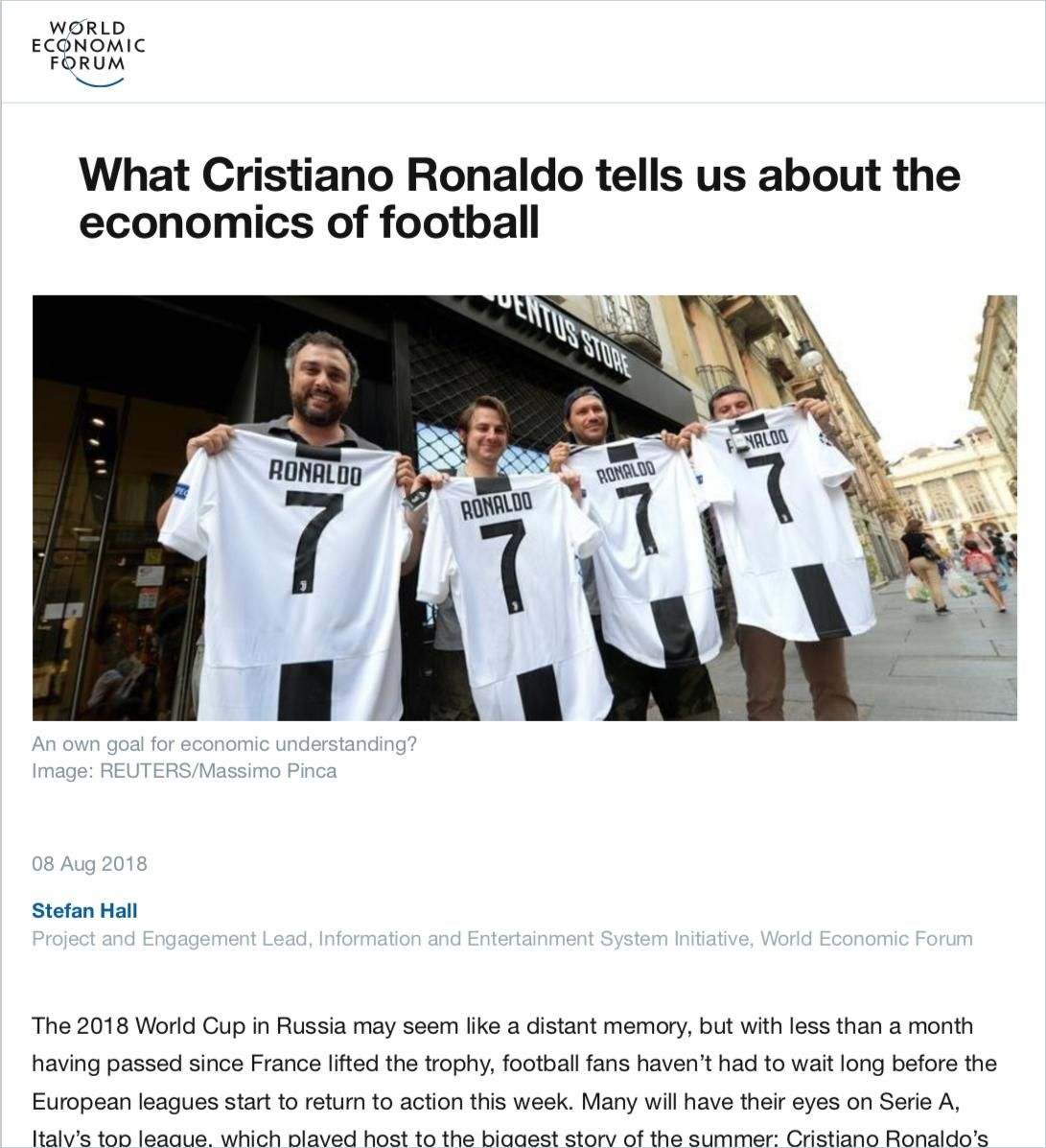 Image of: What Cristiano Ronaldo tells us about the economics of football