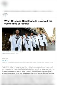What Cristiano Ronaldo tells us about the economics of football summary