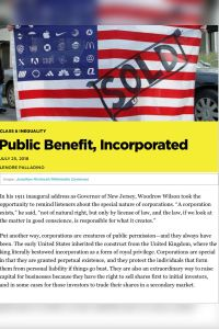 Public Benefit, Incorporated summary