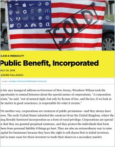 Public Benefit, Incorporated