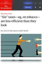 """Sin"" Taxes – e.g., on Tobacco – Are Less Efficient than They Look"