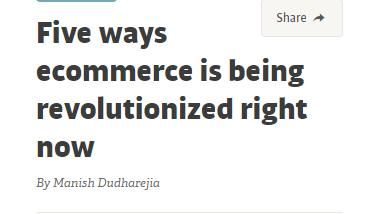 Image of: Five Ways Ecommerce Is Being Revolutionized Right Now