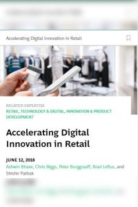 Accelerating Digital Innovation in Retail summary