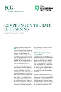 Competing on the Rate of Learning  summary