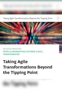 Taking Agile Transformations Beyond the Tipping Point summary