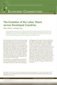 The Evolution of the Labor Share across Developed Countries summary