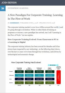 A New Paradigm for Corporate Training
