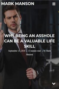 Why Being an Asshole Can Be a Valuable Life Skill summary