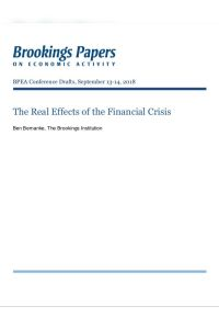 The Real Effects of the Financial Crisis summary