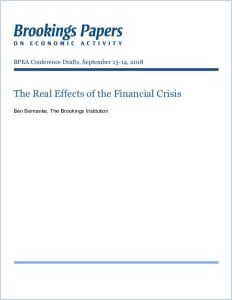 The Real Effects of the Financial Crisis
