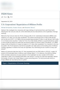 U.S. Corporations' Repatriation of Offshore Profits summary