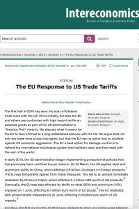 The EU Response to US Trade Tariffs summary