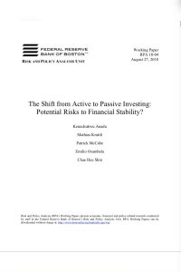 The Shift from Active to Passive Investing summary