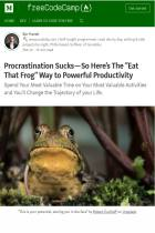 Procrastination Sucks