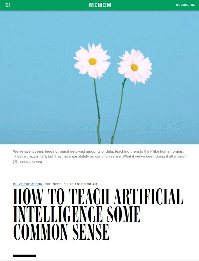 Image of: How to Teach Artificial Intelligence Some Common Sense