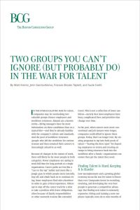 Two Groups You Can't Ignore (but Probably Do) in the War for Talent summary
