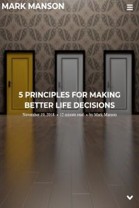 5 Principles for Making Better Life Decisions summary