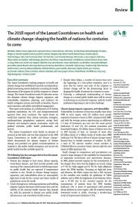 The 2018 Report of the Lancet Countdown on Health and Climate Change summary