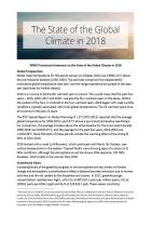 The State of the Global Climate in 2018