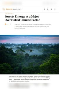Forests Emerge as a Major Overlooked Climate Factor summary