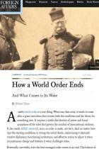 How a World Order Ends