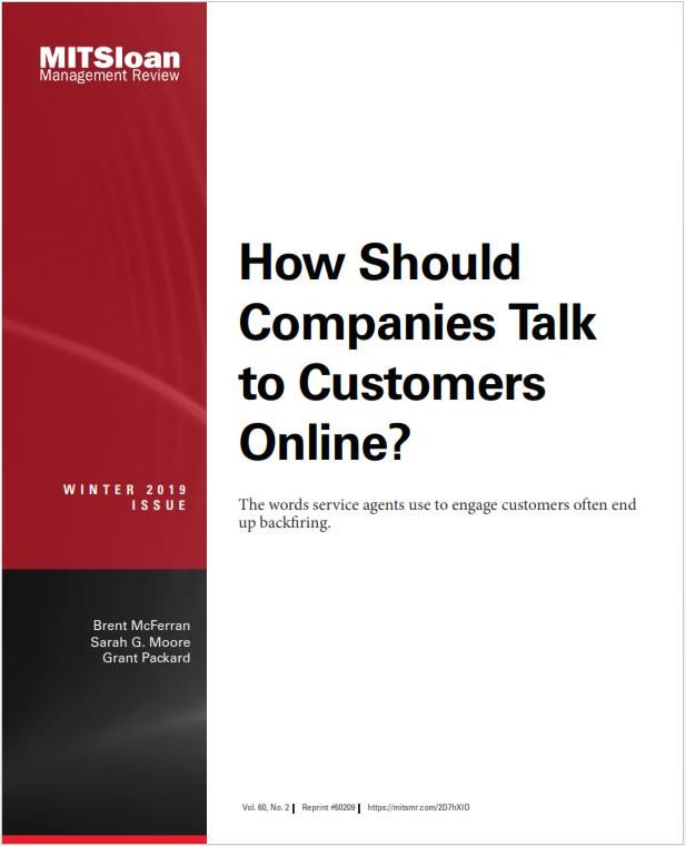 Image of: How Should Companies Talk to Customers Online?