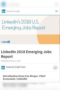 LinkedIn 2018 Emerging Jobs Report summary