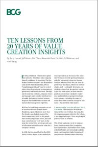 Ten Lessons from 20 Years of Value Creation Insights summary