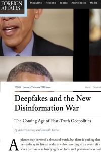 Deepfakes and the New Disinformation War summary