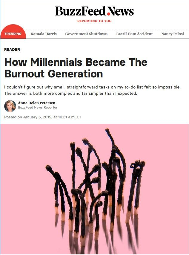 Image of: How Millennials Became the Burnout Generation