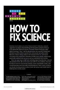 How to Fix Science summary