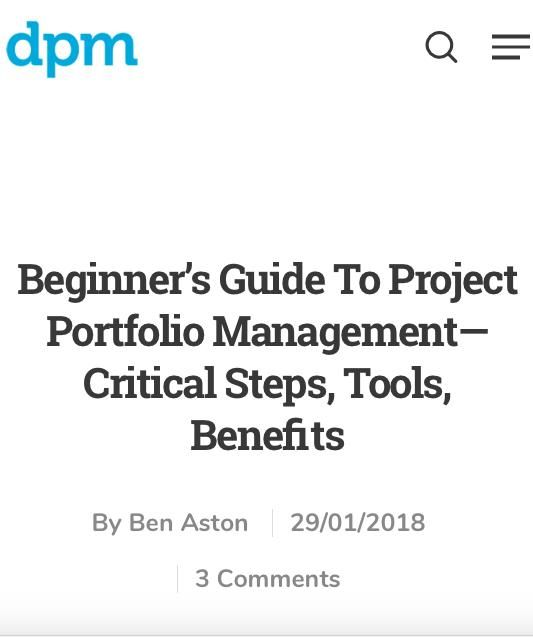 Image of: Beginner's Guide to Project Portfolio Management