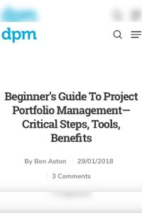 Beginner's Guide to Project Portfolio Management summary