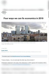 Four Ways We Can Fix Economics in 2019 summary