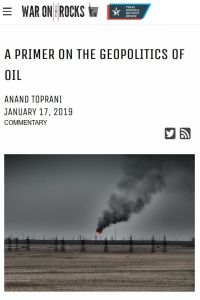 A Primer on the Geopolitics of Oil summary