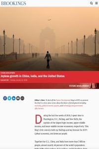 Joyless Growth in China, India and the United States summary