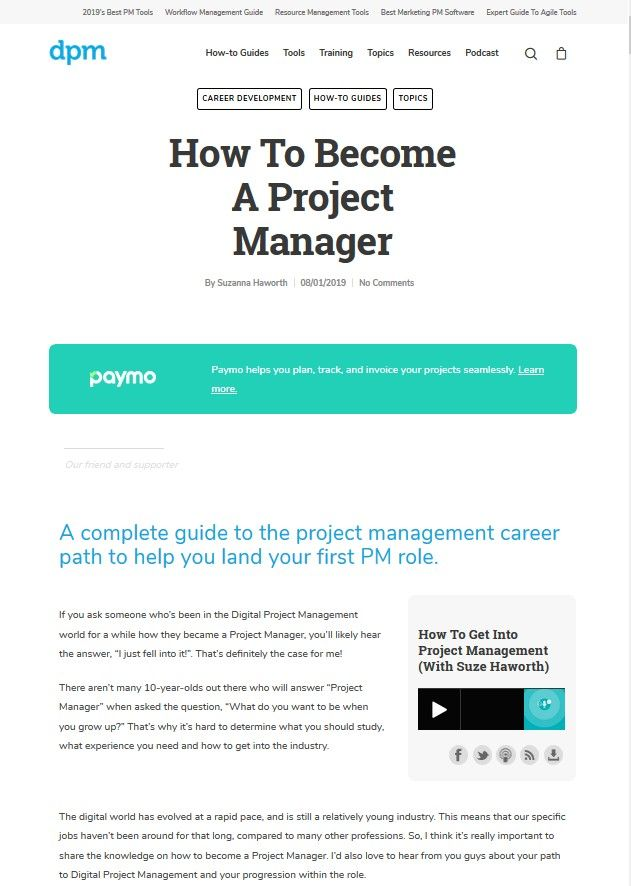 Image of: How to Become a Project Manager