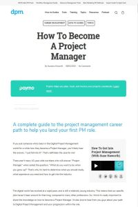 How to Become a Project Manager summary