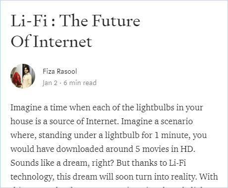 Image of: Li-Fi : The Future of Internet