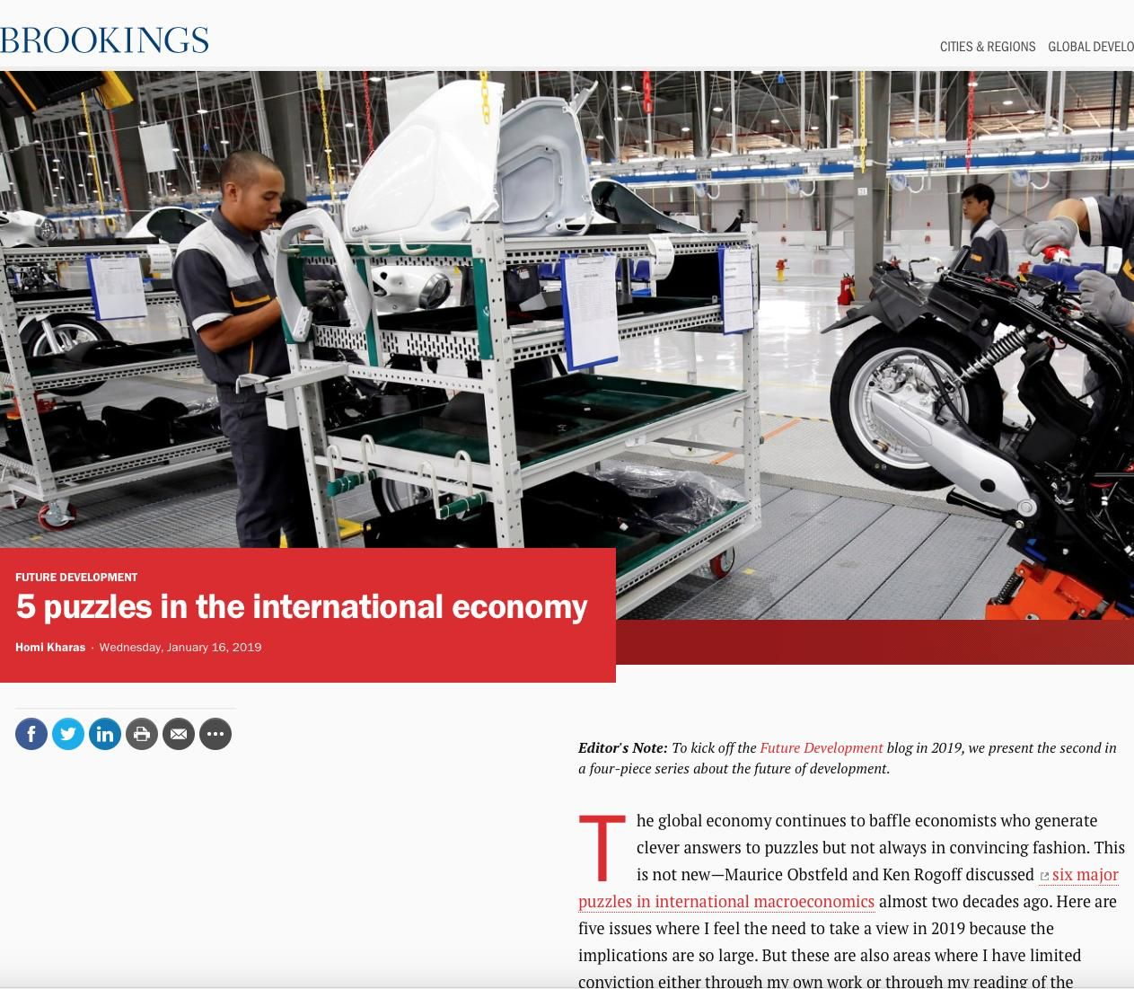 Image of: 5 Puzzles in the International Economy