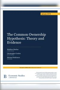 The Common Ownership Hypothesis summary