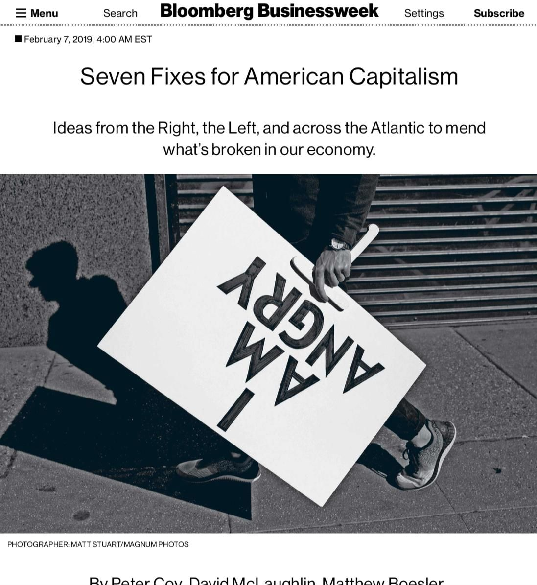 Image of: Seven Fixes for American Capitalism