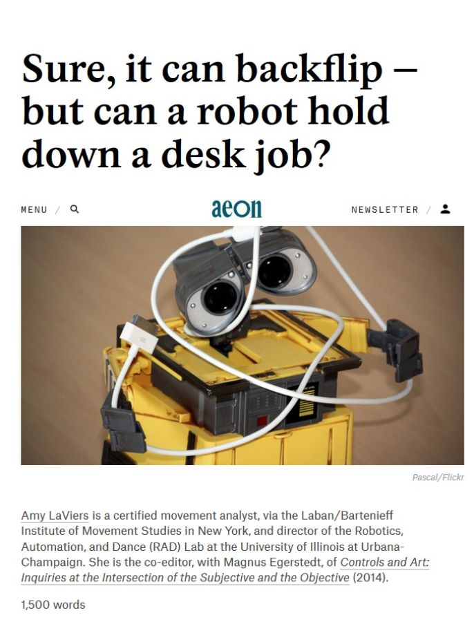 Image of: Sure, It Can Backflip – But Can a Robot Hold Down a Desk Job?