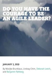 Do You Have the Courage to Be an Agile Leader? summary