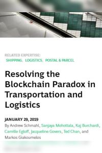 Resolving the Blockchain Paradox in Transportation and Logistics summary