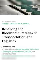 Resolving the Blockchain Paradox in Transportation and Logistics