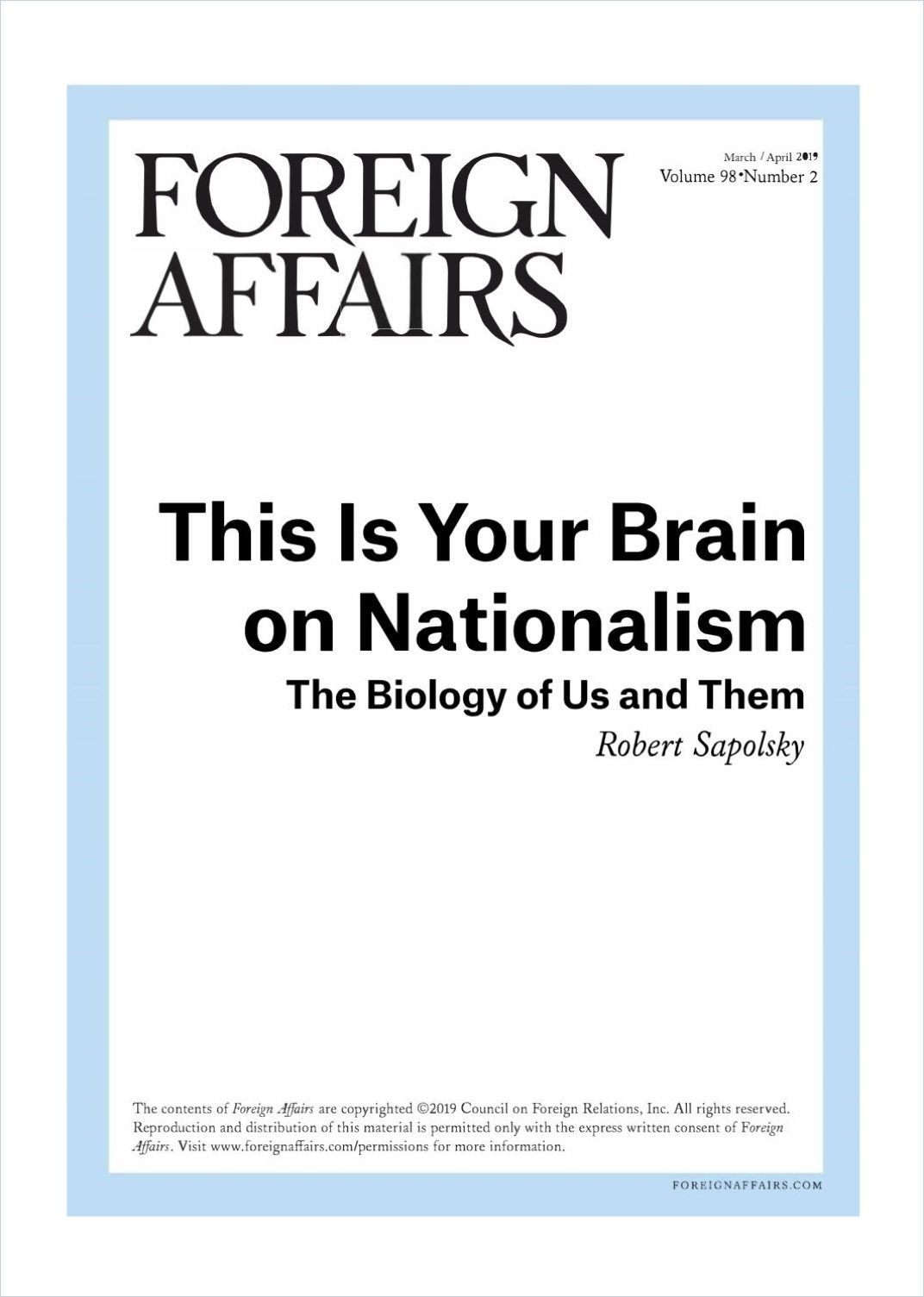 Image of: This Is Your Brain on Nationalism