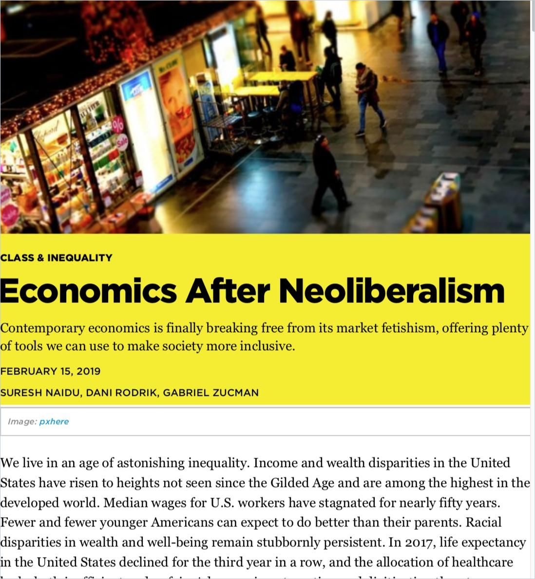 Image of: Economics After Neoliberalism