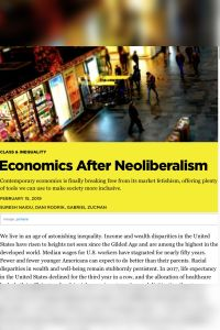 Economics After Neoliberalism summary
